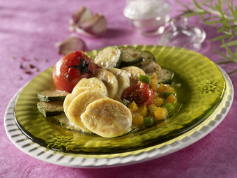 Poêlées de quenelles aux légumes du soleil