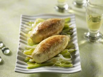 Quenelles au brochet sur lit de poireaux nos recettes de quenelles faciles pr parer cuisine - Poisson sur lit de poireaux ...
