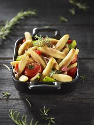 Cassolette de mini-quenelles aux légumes