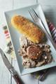 Recette : Médaillon de filet mignon de porc et suprêmes soufflés nature panés