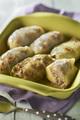 Recette : Paupiettes de chou vert aux quenelles nature, viande hachée et mozarella