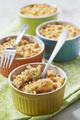 Recette : Petits crumbles aux tomates chèvre et soufflettes