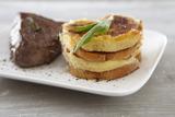 Recette : Gratin de Quenelles natures et patate douce, pavé de bœuf à la sauge