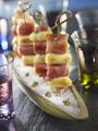 Recette : Mini brochettes de quenelles et jambon de Bayonne