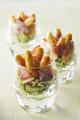 Recette : Mini quenelles aux agrumes et courgettes marinées
